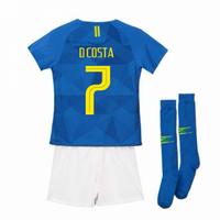 2018-2019 Brazil Away Nike Little Boys Mini Kit (D Costa 7)