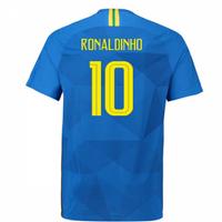 2018-2019 Brazil Away Nike Vapor Match Shirt (Ronaldinho 10)