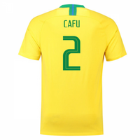 2018-2019 Brazil Home Nike Football Shirt (Cafu 2) - Kids