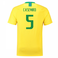 2018-2019 Brazil Home Nike Football Shirt (Casemiro 5)
