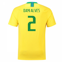 2018-2019 Brazil Home Nike Football Shirt (Dani Alves 2)