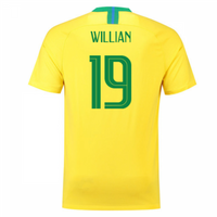 2018-2019 Brazil Home Nike Football Shirt (Willian 19)
