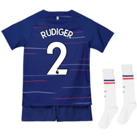 2018-2019 Chelsea Home Nike Baby Kit (Rudiger 2)