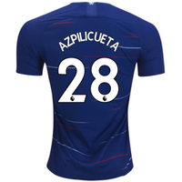 2018-2019 Chelsea Home Nike Football Shirt (Azpilicueta 28)