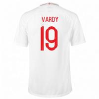 2018-2019 England Home Nike Football Shirt (Vardy 19)