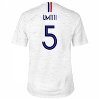 2018-2019 France Away Nike Football Shirt (Umtiti 5) - Kids