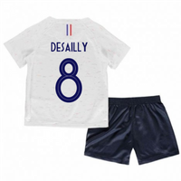 2018-2019 France Away Nike Little Boys Mini Kit (Desailly 8)