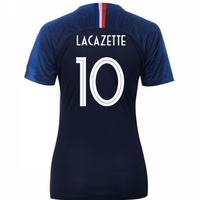 2018-2019 France Home Nike Womens Shirt (Lacazette 10)