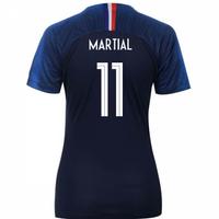 2018-2019 France Home Nike Womens Shirt (Martial 11)