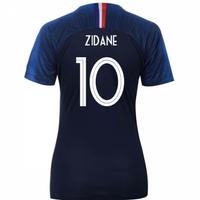 2018-2019 France Home Nike Womens Shirt (Zidane 10)