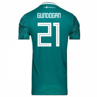 2018-2019 Germany Away Adidas Football Shirt (Gundogan 21)