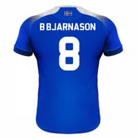 2018-2019 Iceland Home Errea Football Shirt (B Bjarnason 8)