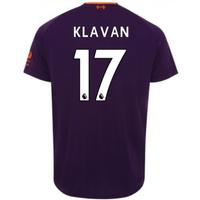 2018-2019 Liverpool Away Football Shirt (Klavan 17) - Kids