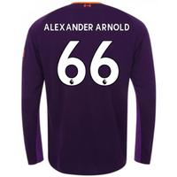 2018-2019 Liverpool Away Long Sleeve Shirt (Alexander Arnold 66)