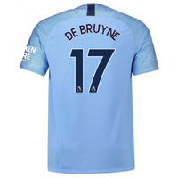 2018-2019 Man City Home Nike Football Shirt (De Bruyne 17)