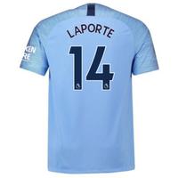 2018-2019 Man City Nike Vapor Home Match Shirt (Laporte 14)