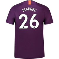 2018-2019 Man City Third Nike Football Shirt (Mahrez 26)