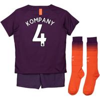 2018-2019 Man City Third Nike Little Boys Mini Kit (Kompany 4)