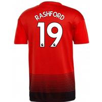 2018-2019 Man Utd Adidas Home Football Shirt (Rashford 19)