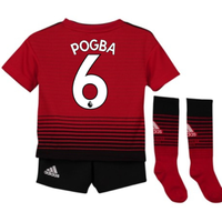 2018-2019 Man Utd Adidas Home Little Boys Mini Kit (Pogba 6)