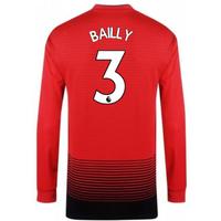 2018-2019 Man Utd Adidas Home Long Sleeve Shirt (Bailly 3)