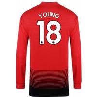 2018-2019 Man Utd Adidas Home Long Sleeve Shirt (Young 18)