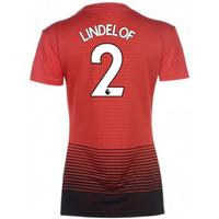 2018-2019 Man Utd Adidas Womens Home Shirt (Lindelof 2)