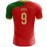 2018-2019 Portugal Flag Home Concept Football Shirt (Eder 9)