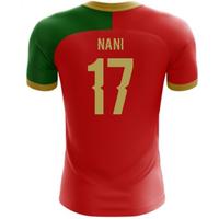 2018-2019 Portugal Flag Home Concept Football Shirt (Nani 17)