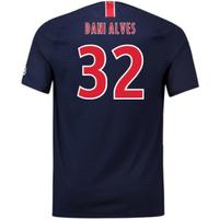 2018-2019 PSG Home Nike Football Shirt (Dani Alves 32)