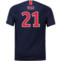 2018-2019 PSG Home Nike Football Shirt (Weah 21)