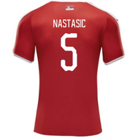 2018-2019 Serbia Home Puma Football Shirt (Nastasic 5)
