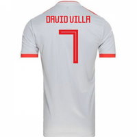 2018-2019 Spain Away Adidas Football Shirt (David Villa 7) - Kids