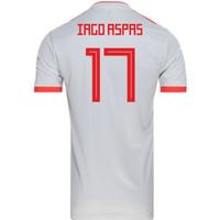 2018-2019 Spain Away Adidas Football Shirt (Iago Aspas 17) - Kids