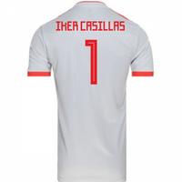 2018-2019 Spain Away Adidas Football Shirt (Iker Casillas 1) - Kids