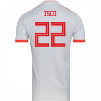 2018-2019 Spain Away Adidas Football Shirt (Isco 22)