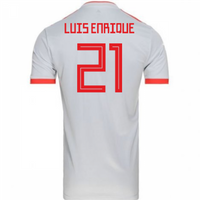 2018-2019 Spain Away Adidas Football Shirt (Luis Enrique 21) - Kids