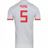 2018-2019 Spain Away Adidas Football Shirt (Puyol 5)