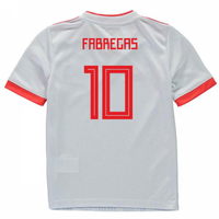 2018-2019 Spain Away Adidas Mini Kit (Fabregas 10)