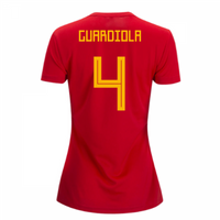 2018-2019 Spain Home Adidas Womens Shirt (Guardiola 4)