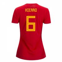 2018-2019 Spain Home Adidas Womens Shirt (Hierro 6)
