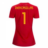 2018-2019 Spain Home Adidas Womens Shirt (Iker Casillas 1)