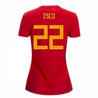 2018-2019 Spain Home Adidas Womens Shirt (Isco 22)