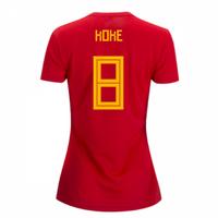 2018-2019 Spain Home Adidas Womens Shirt (Koke 8)