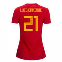 2018-2019 Spain Home Adidas Womens Shirt (Luis Enrique 21)