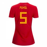 2018-2019 Spain Home Adidas Womens Shirt (Puyol 5)