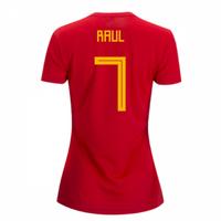 2018-2019 Spain Home Adidas Womens Shirt (Raul 7)