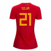 2018-2019 Spain Home Adidas Womens Shirt (Silva 21)