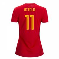 2018-2019 Spain Home Adidas Womens Shirt (Vitolo 11)