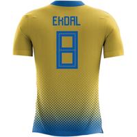 2018-2019 Sweden Airo Concept Home Shirt (Ekdal 8)